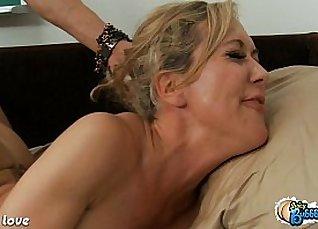 Jessie Jensen and Brandi Love Centerfold cock sex |