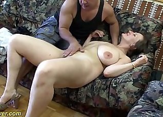 Alexis Texas for busty german MILF sucking his big dick |