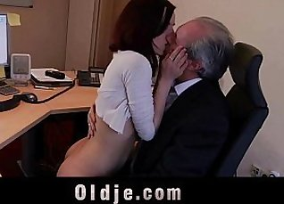 Bigtitted secretary sucks young cock |