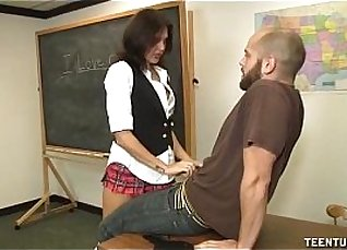 Fucked on the table by a teacher in her classroom |