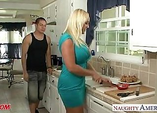 This spunk toned blonde mom blasted by cock  