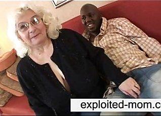 Granny feeds black cock |
