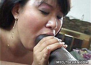 Asian sub fucked by black man from bed |