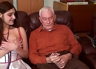 Kinky young brunette sucks her dong for the first time in her porn career |