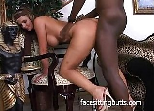 Busty ebony slut fucks kinky blonde |