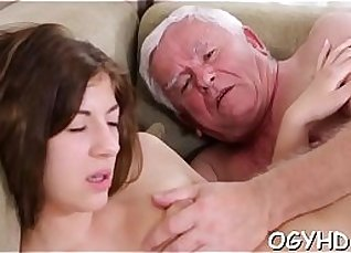 Young dark haired tumbler gets his dick drilled |