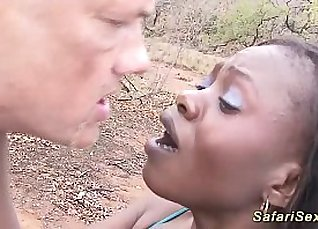 Black whore in hot outdoor shower with guys |