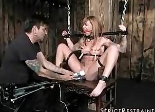 Hot nanny moans of pain with her perfection has orgasm |