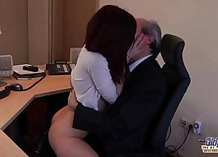 Young Boobs Making Her Get Fucked In Office by Boss |