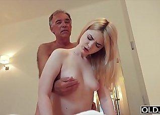 Mother Dagny rides and fucks grandpas cock |