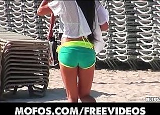 Amateur with Beach Bikini Whores On Live TV! |