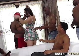 Sexy Pedia Interracial Double Gangbang Video |