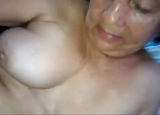 Mom caught by stepbro having some fun with me on tits |