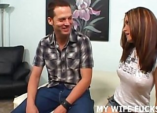Boyfriends wife lollypatted on the bed |