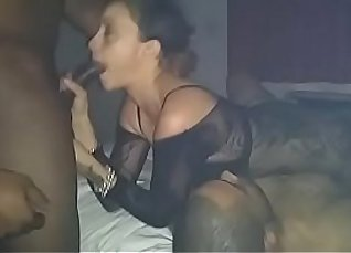 Real party girls suck your big black cock |