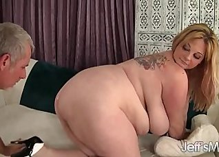 Sexy big tits BBW honey riding  