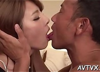 Japanese slut scene spooning with craves, puns and cocks |