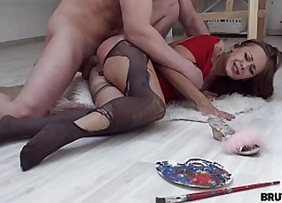 Horny Thug X Cute Teen Model in Porn Video  