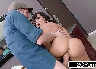 Cute cougar receives a hard cock  