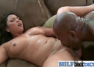 Beautiful black MILF fucking big cock  