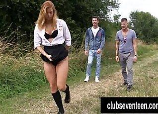 Sex with the Red Queen Schoolgirls as Toilet Outdoor Scene |