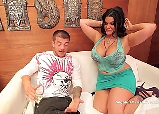Hot Angelina Castro uses her huge booty to fuck her |
