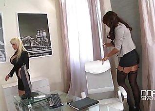 Busty Secretary Loves Cock  