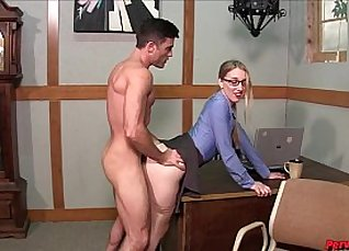 Katerina Gets Creampie From Boss |