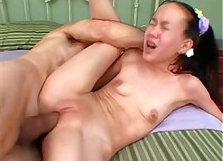 Hot Asian Plays Hard On Rod And Punched On Bed |