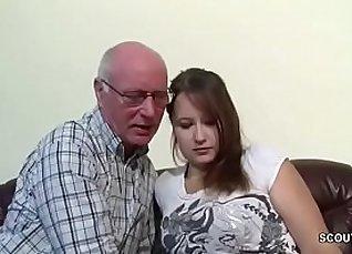 Dutch friend seduces her own grandpa and sucks prick JEL VERTEL! |