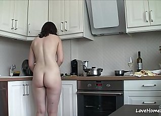 Claudia Wilkinson Nude in the kitchen |