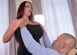 Busty Naughty Chubby Nurse Sucks his Meaty Cock |