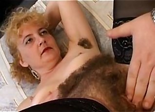 Oiled Wifes hairy pussy gets fucked |