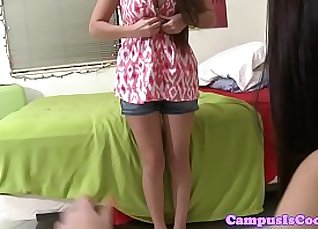 Busty college student pounded and fucked |