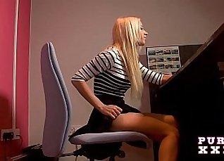 Busty secretary lesbian orgy fuck |
