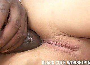 Black Cock Destroys German Wifes Glasses  