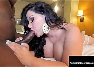 Black Latina Camgirl Rides Hard Cock to The End |