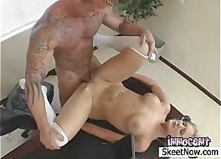 Female with large tits gets slammed |