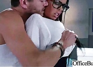 Chubby White Big Titty Slut Gets Creampied in Back Office  