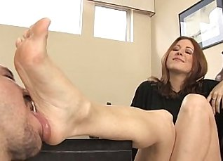 Foot fetish lesbians dancing in a theater |