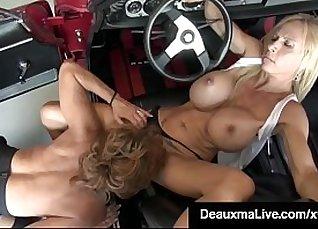 Hot Busty Cougar Gets a Facial  
