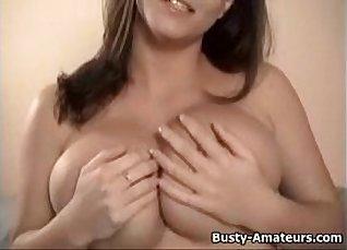 Big boobs Tori rides a dildo to my pussy  