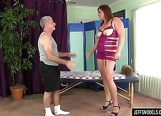 new fat famination gives a sexy massage |