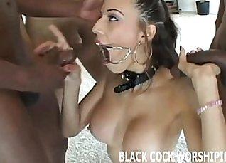 Hottie Nikki getting slammed by black cock  