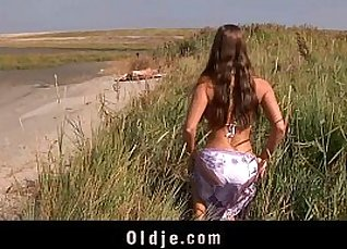 Ada and shemale busty topless on beach |
