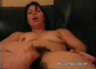 Watch how great her hot leather bro starts showing her hairy pussy |
