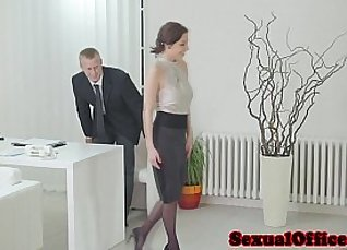 Georg Moms fucked in office |