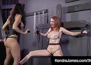 Horny bondage babe spanked  