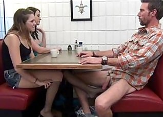 Daddy gets first taste of his foot customer  