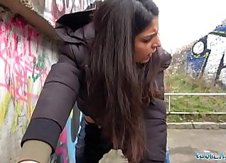 Fucking in public outdoor creampie with a bang his wet dream |